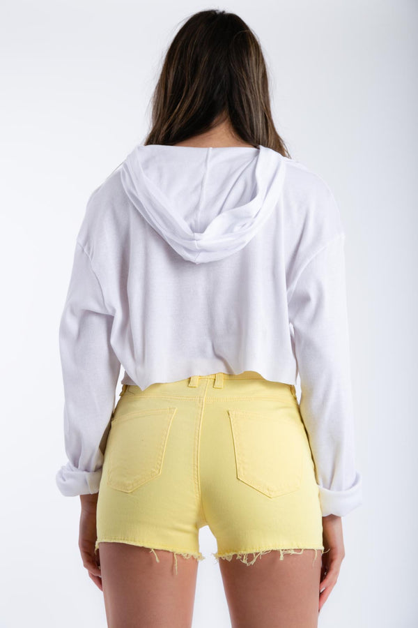 Shake It Up Denim Shorts in Yellow | Necessary Clothing