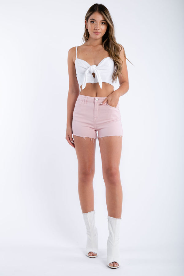 Shake It Up Denim Shorts in Pink | Necessary Clothing