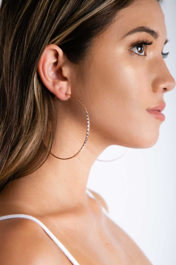 Jump Through Hoops Earrings in Rose Gold