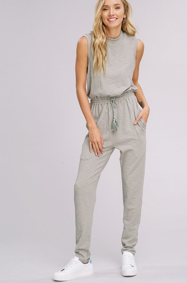 Runner's High Jumpsuit in Light Olive
