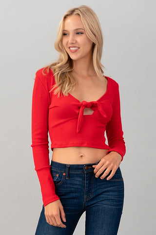 Tie Me Over Crop Top