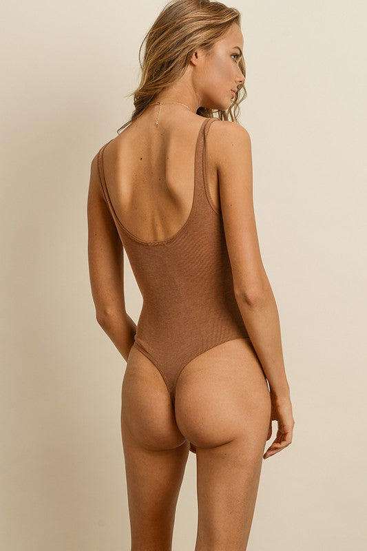Body Work Bodysuit in Tan