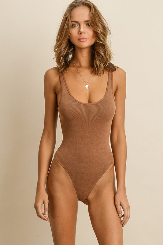 Body Work Bodysuit in Tan | Necessary Clothing