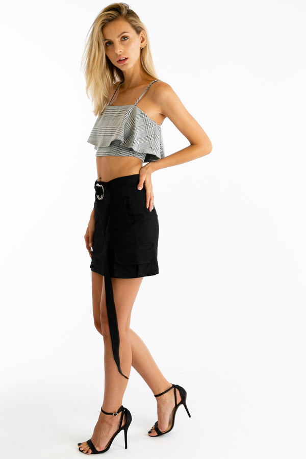 Ruff Rider Houndstooth Crop Tank | Necessary Clothing