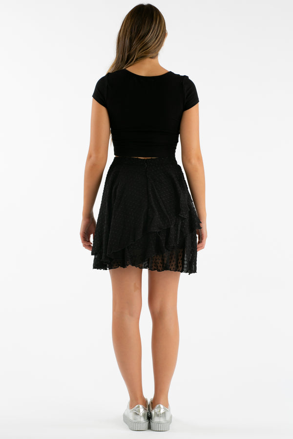 Truth Or Flare Flirty Skirt in Black | Necessary Clothing