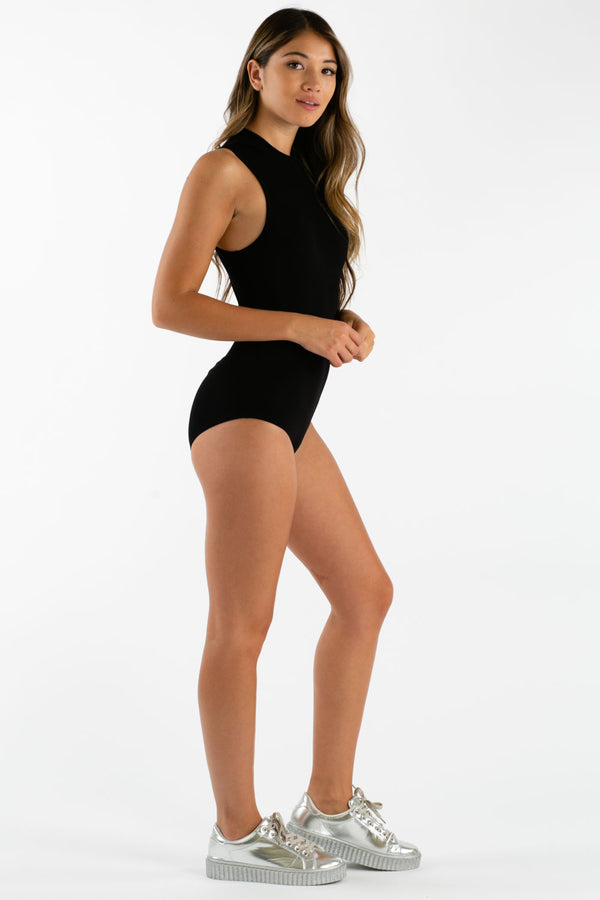Better Alone Bodysuit in Black | Necessary Clothing