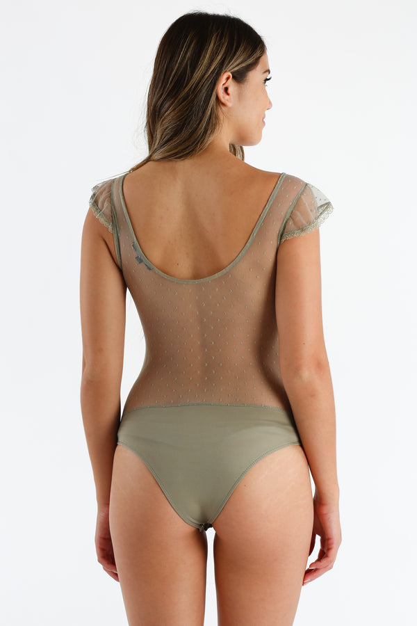 Once Upon A Bodysuit in Olive Green | Necessary Clothing