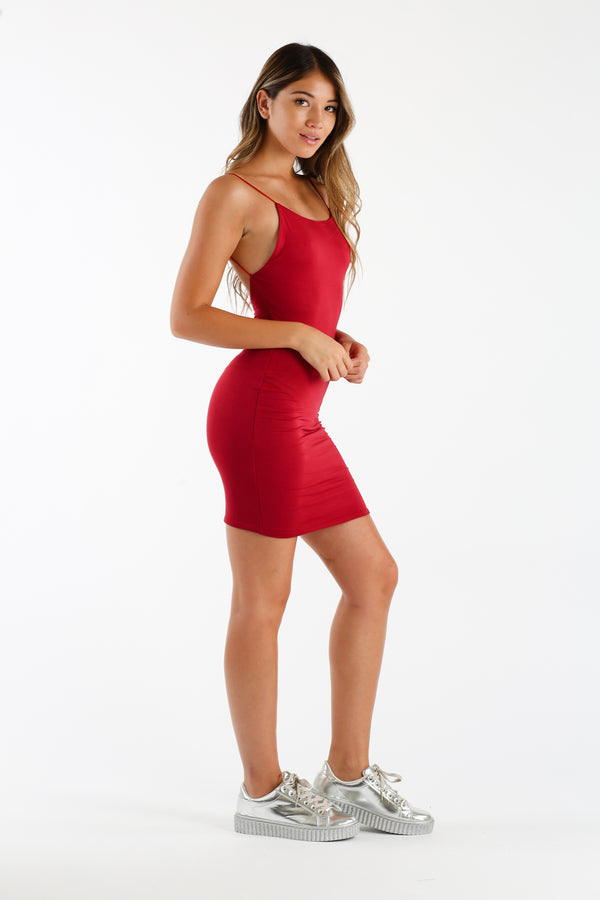 Girl Crush Party Dress in Red | Necessary Clothing