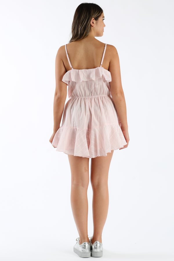 Soda Jerk Romper in Blush | Necessary Clothing