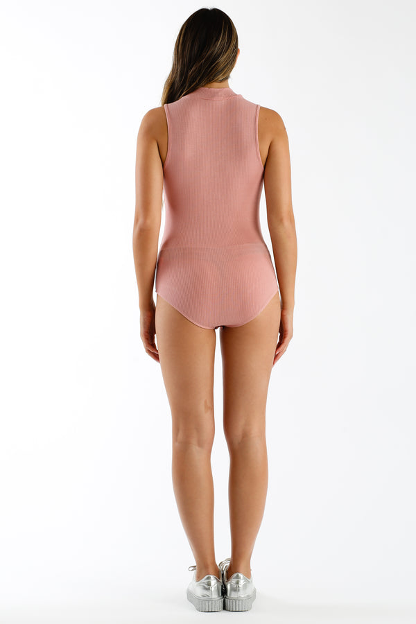 Better Alone Bodysuit in Mauve | Necessary Clothing