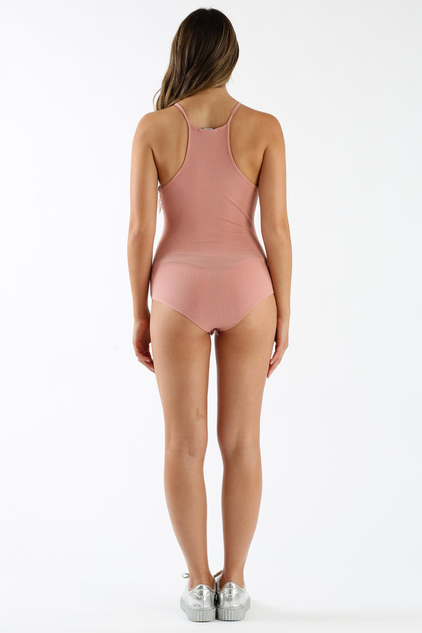 Piece Of Mind Bodysuit in Mauve | Necessary Clothing
