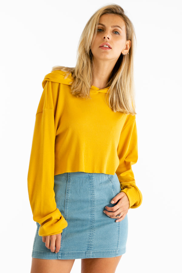 Hood As New Top in Mustard | Necessary Clothing