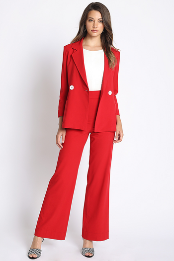 Open For Business Suit Pants in Red | Necessary Clothing