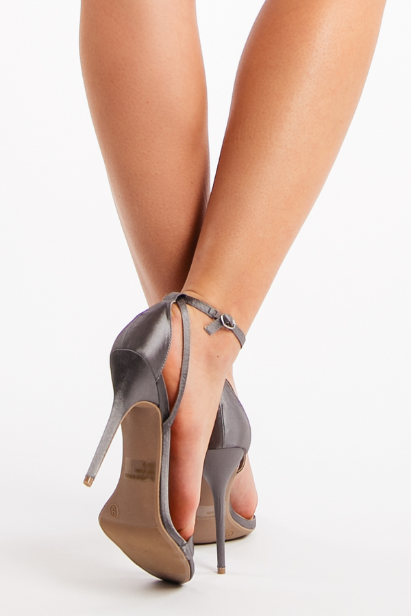 Head Over Heels in Gray Satin