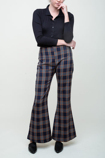 Plaid Taste Flare Pants