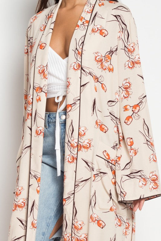 Flower You Anywhere Kimono in Multi