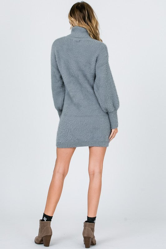 My Sweater Half Dress in Grey