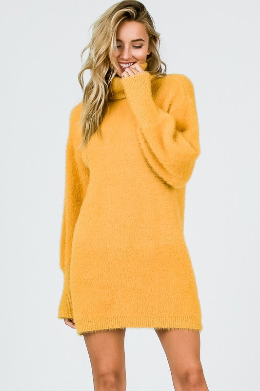 My Sweater Half Dress in Mustard | Necessary Clothing