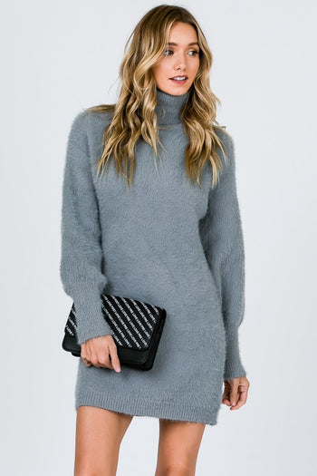 My Sweater Half Dress in Grey | Necessary Clothing