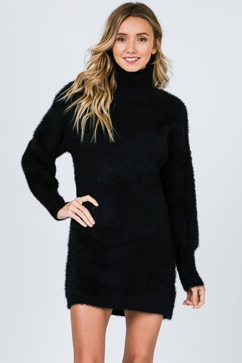 My Sweater Half Dress in Black | Necessary Clothing