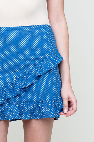 Dot Talk To Me Skirt in Blue