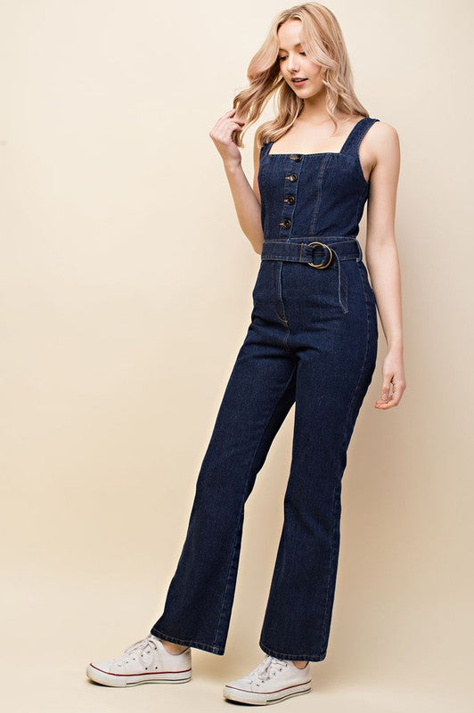 Teacher's Lounge Denim Jumpsuit