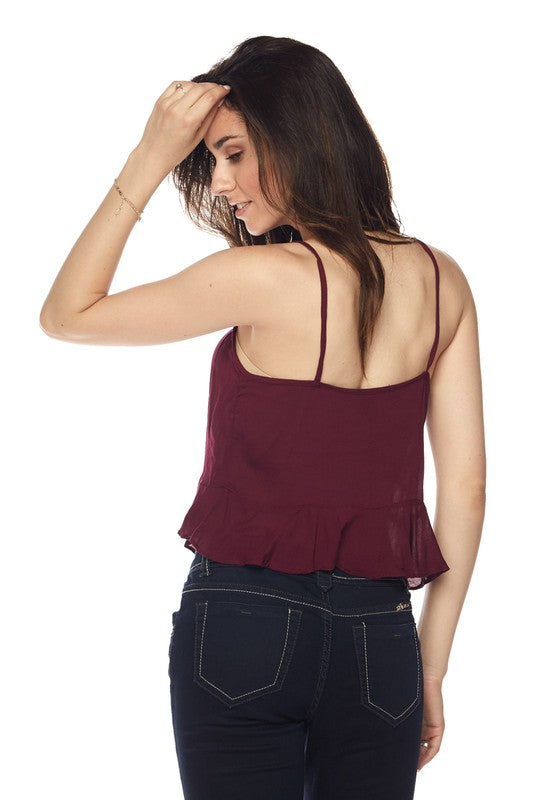 Twice Shy Tank Top in Burgundy | Necessary Clothing