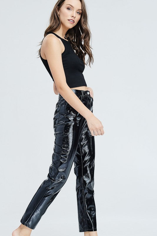 Patent Pending Cropped Pants in Black
