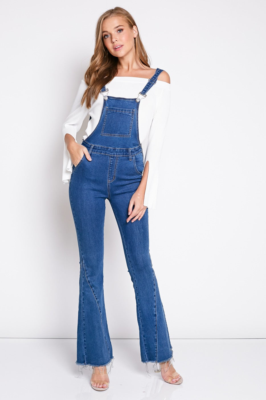 Country Flare Overalls in Denim | Necessary Clothing