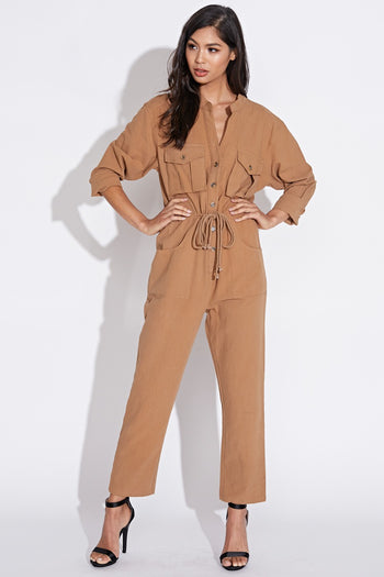 Steam Funk Jumpsuit in Taupe | Necessary Clothing