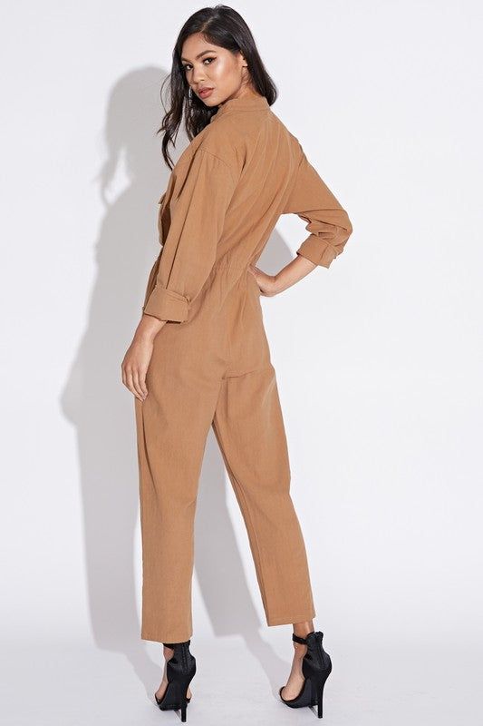 Steam Funk Jumpsuit in Taupe