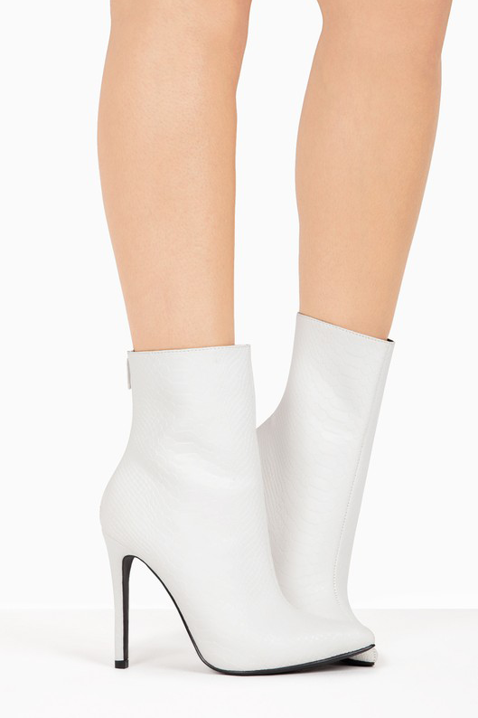 Under Pressure Booties in White | Necessary Clothing