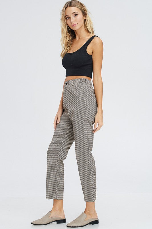 Check Me Out Cropped Pants in Black/Brown