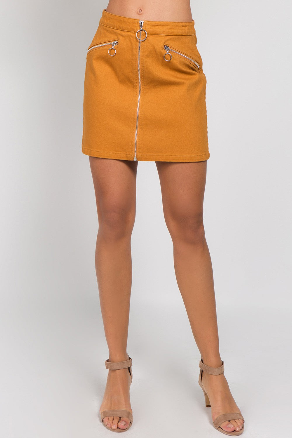 There's Moto Life Skirt in Camel | Necessary Clothing