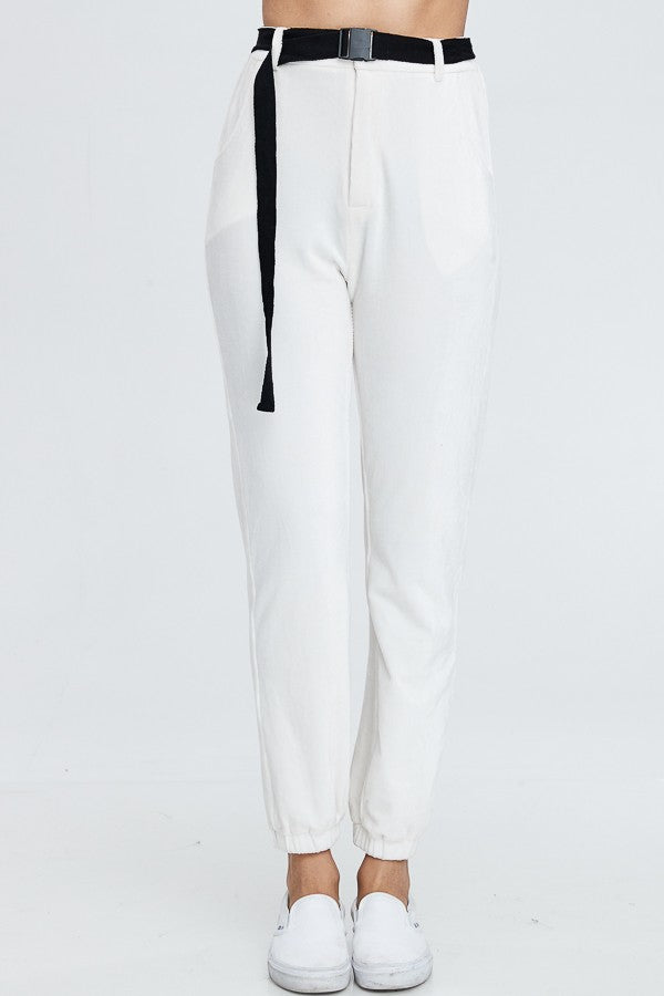 Cigarette Break Knit Pants in Ivory