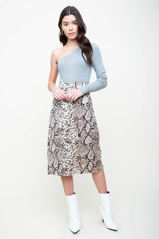 Queen Cobra Midi Skirt