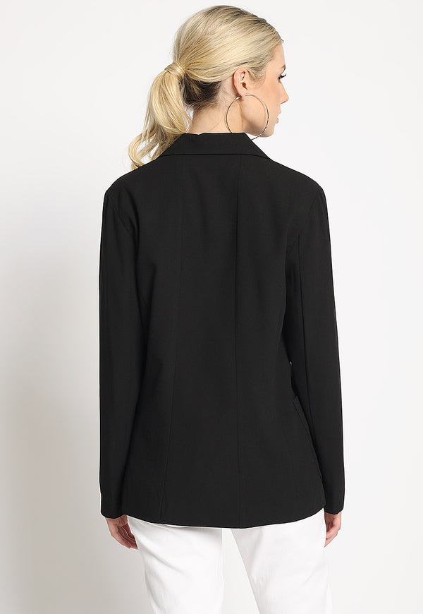 Open For Business Suit Jacket in Black