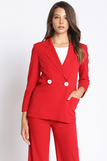 Open For Business Suit Jacket in Red | Necessary Clothing