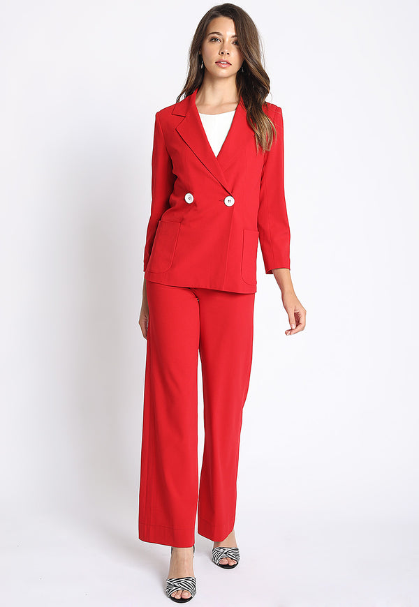Open For Business Suit Jacket in Red