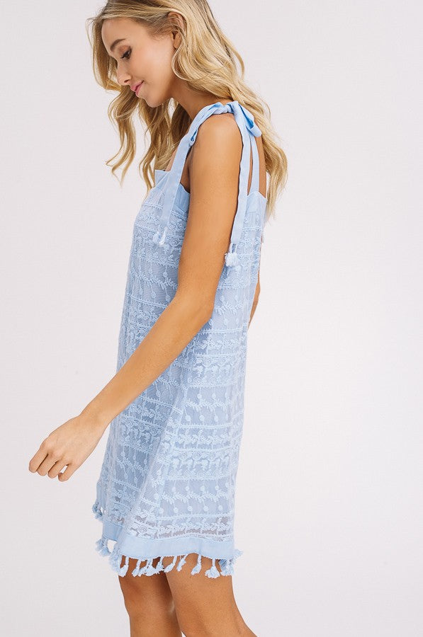Island Breeze Dress in Light Blue
