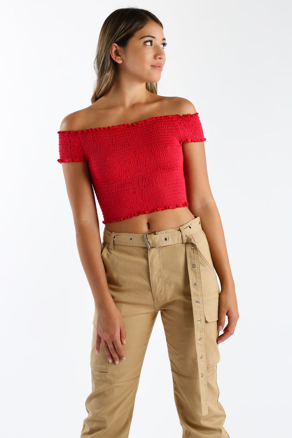 Small Town Crop Top in Red | Necessary Clothing