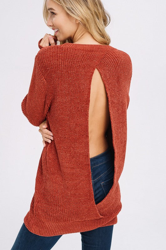 Make The Cut Sweater in Brick | Necessary Clothing