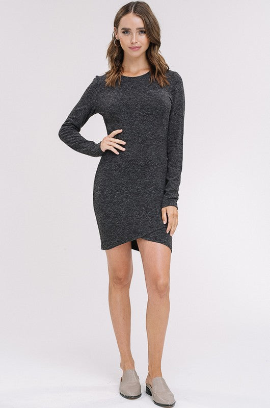 Tender Lovin' Care Long Sleeve Dress in Black