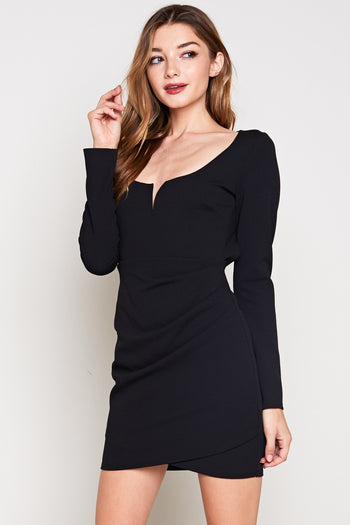 Great Wide Open Back Dress in Black | Necessary Clothing