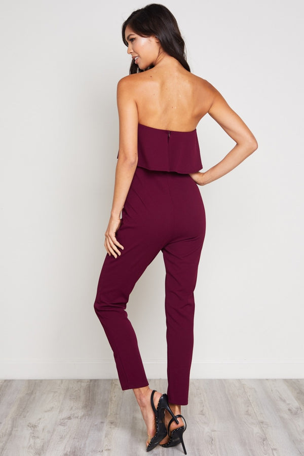 Find Your Flow Jumpsuit in Burgundy | Necessary Clothing