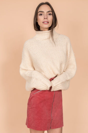 Chunky Brewster Sweater in Cream