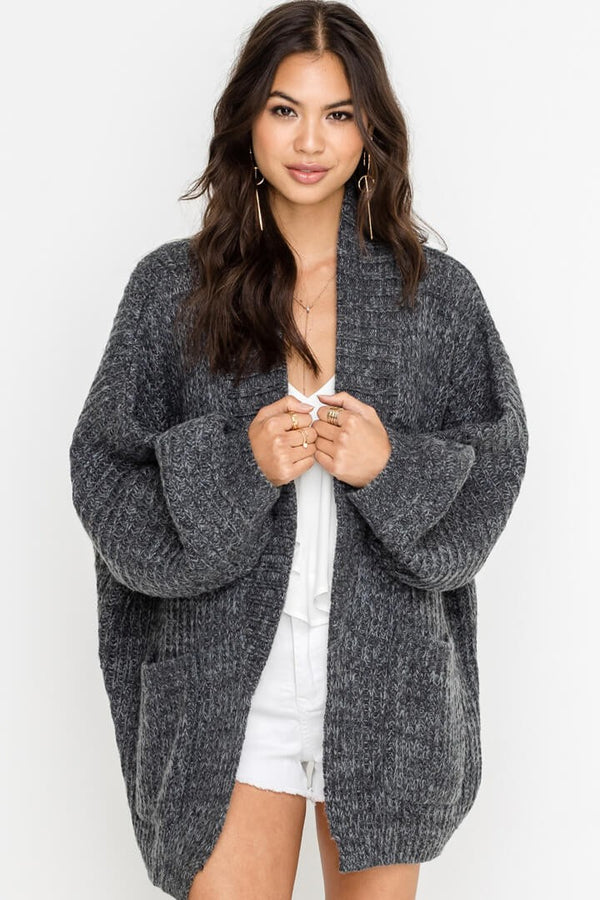 Slouch Potato Oversized Cardigan in Charcoal | Necessary Clothing