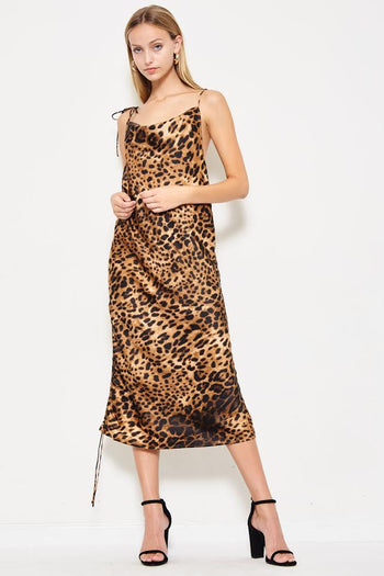 Catch A Cheetah By The Tail Adjustable Dress in Cheetah Print | Necessary Clothing
