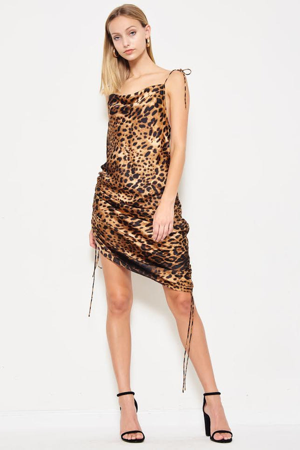 Catch A Cheetah By The Tail Adjustable Dress in Cheetah Print