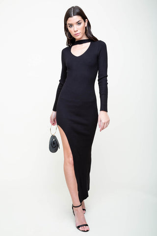 Slit City Midi Dress
